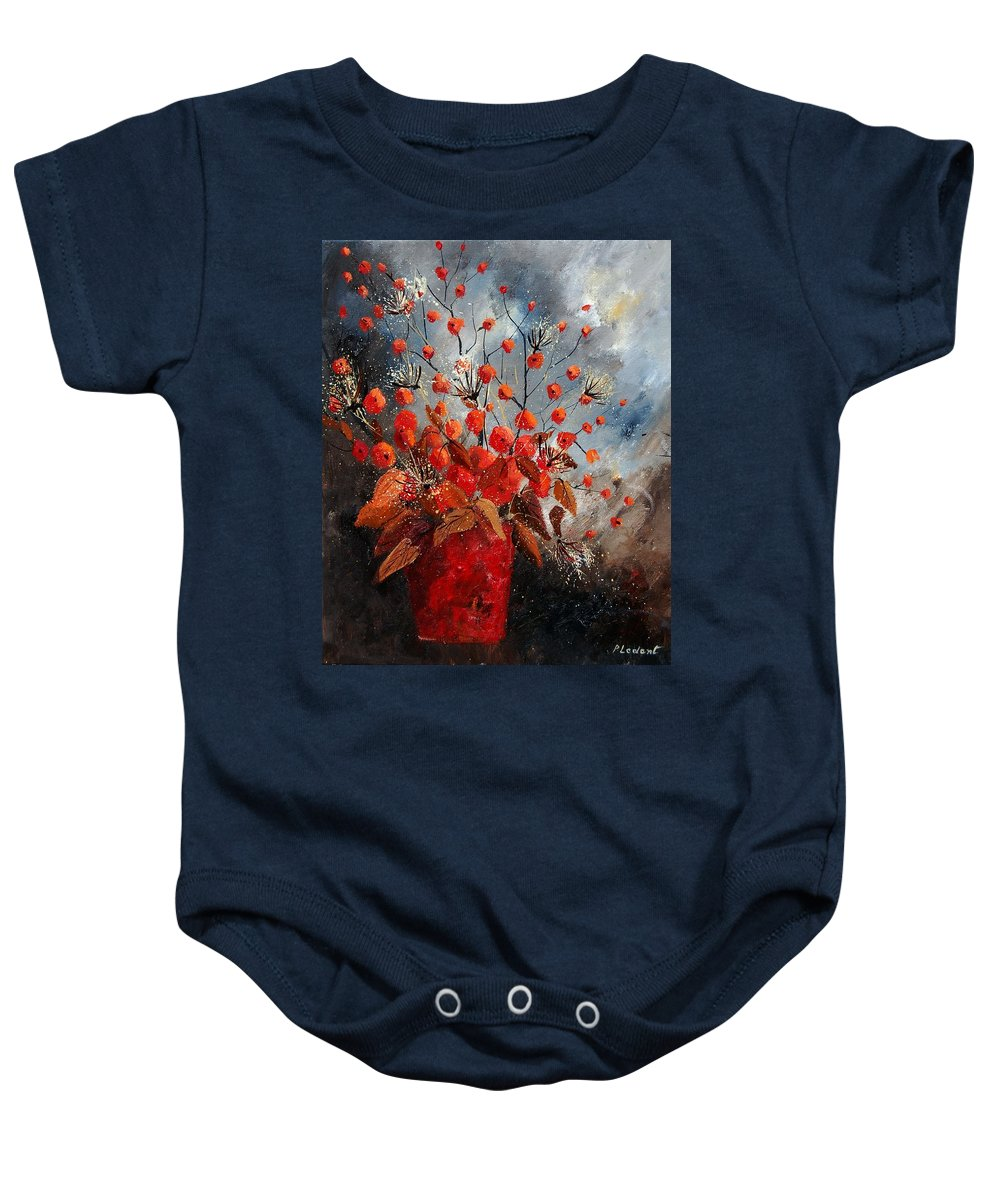 Flowers Baby Onesie featuring the painting Bunch 560608 by Pol Ledent