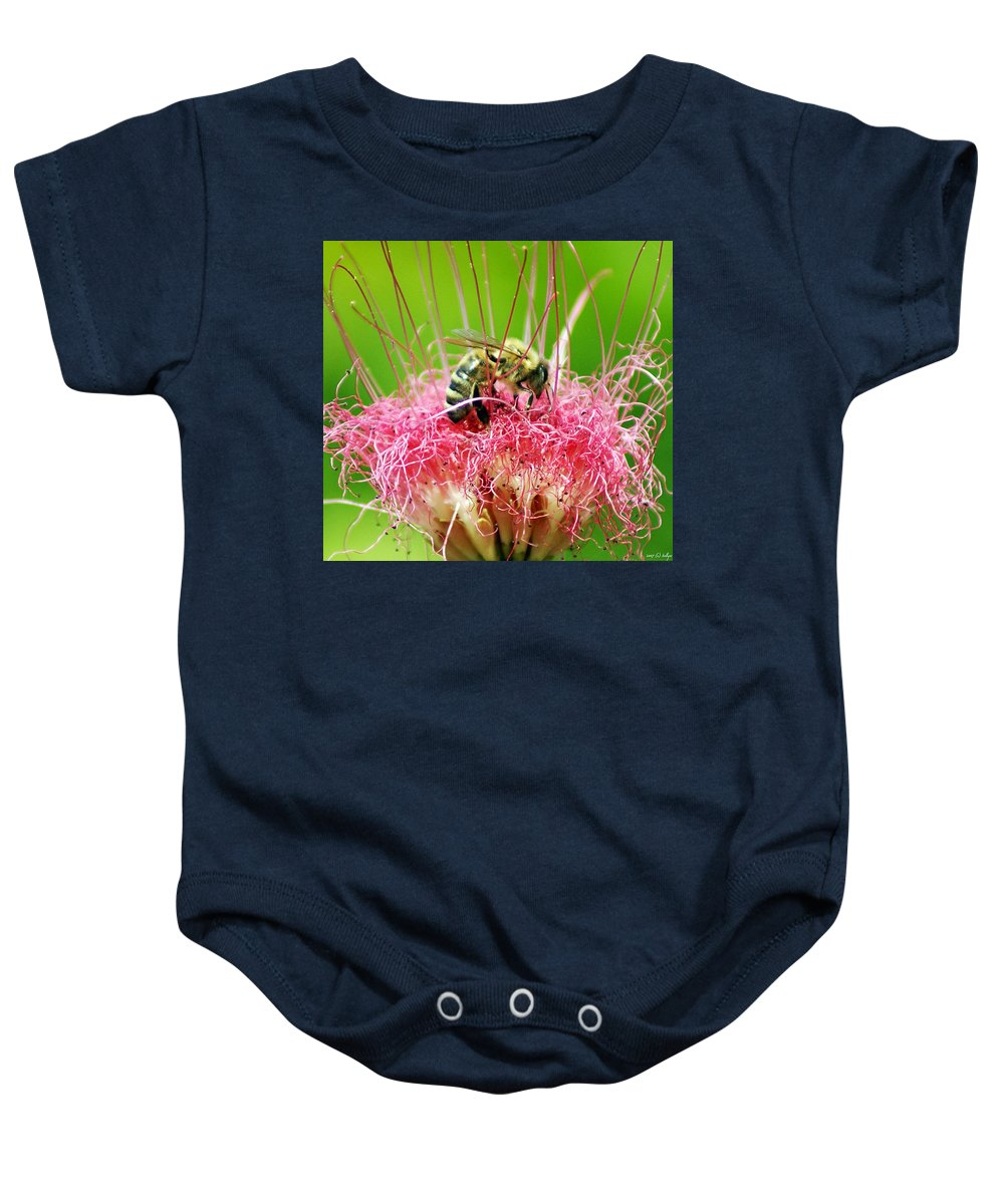 Nature Baby Onesie featuring the photograph Busy Bee by Holly Kempe