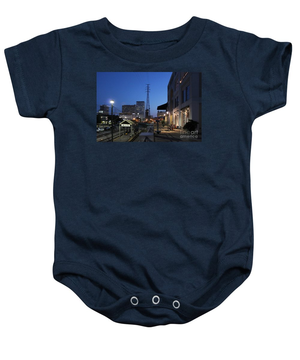 Architecture Baby Onesie featuring the photograph By The Docks by Todd Blanchard