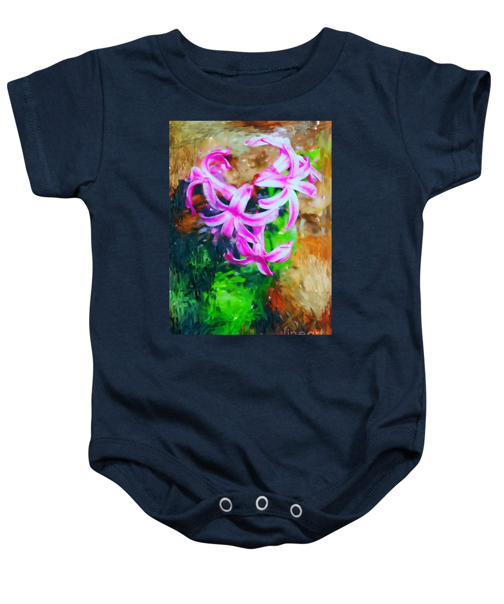 Baby Onesie featuring the photograph Candy Striped Hyacinth by David Lane