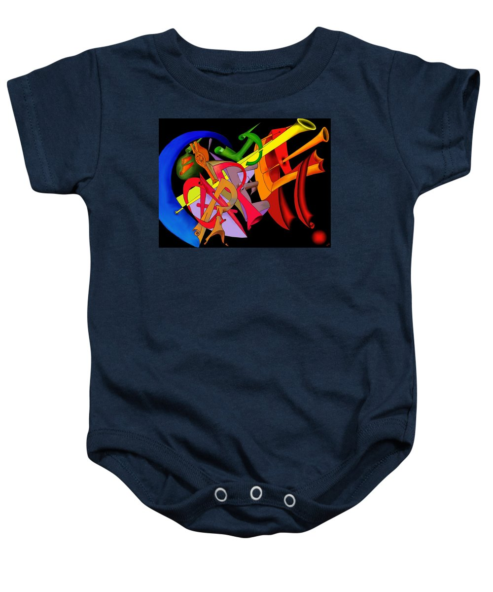 'carpe Diem' Baby Onesie featuring the digital art Carpe Diem II by Helmut Rottler