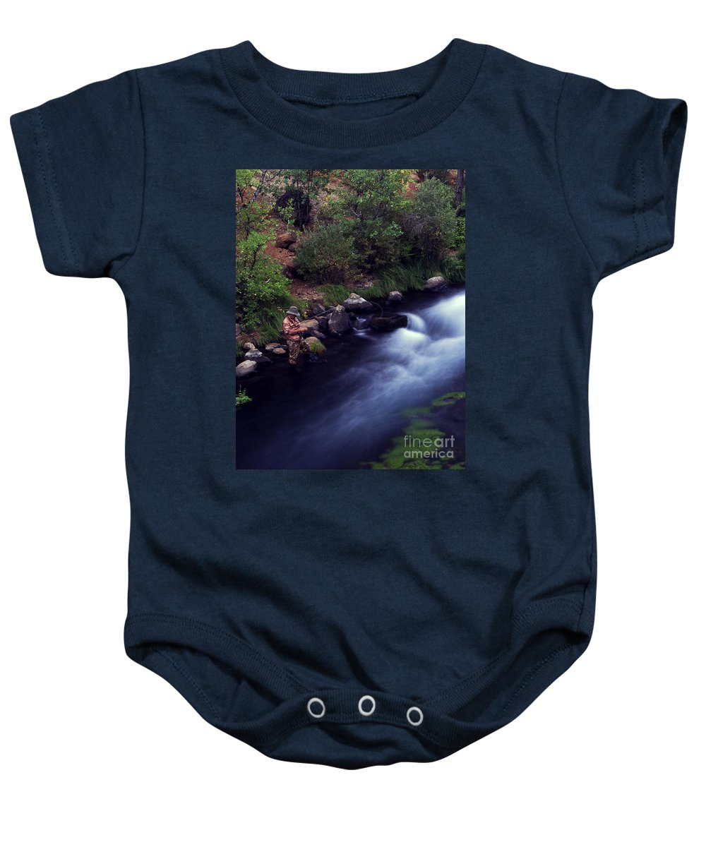 Fishing Baby Onesie featuring the photograph Casting Softly by Peter Piatt
