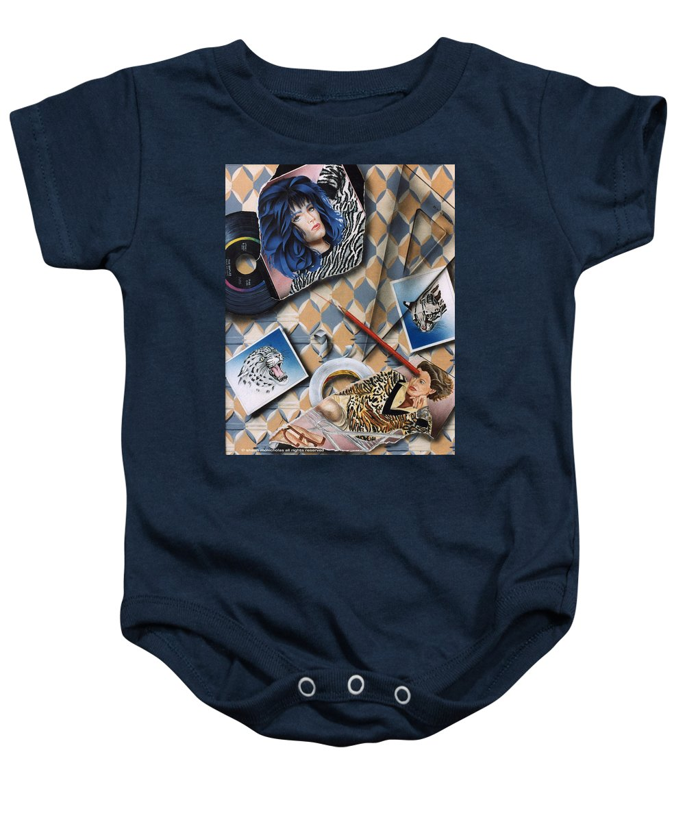 Cats Baby Onesie featuring the painting Cats by Shaun McNicholas