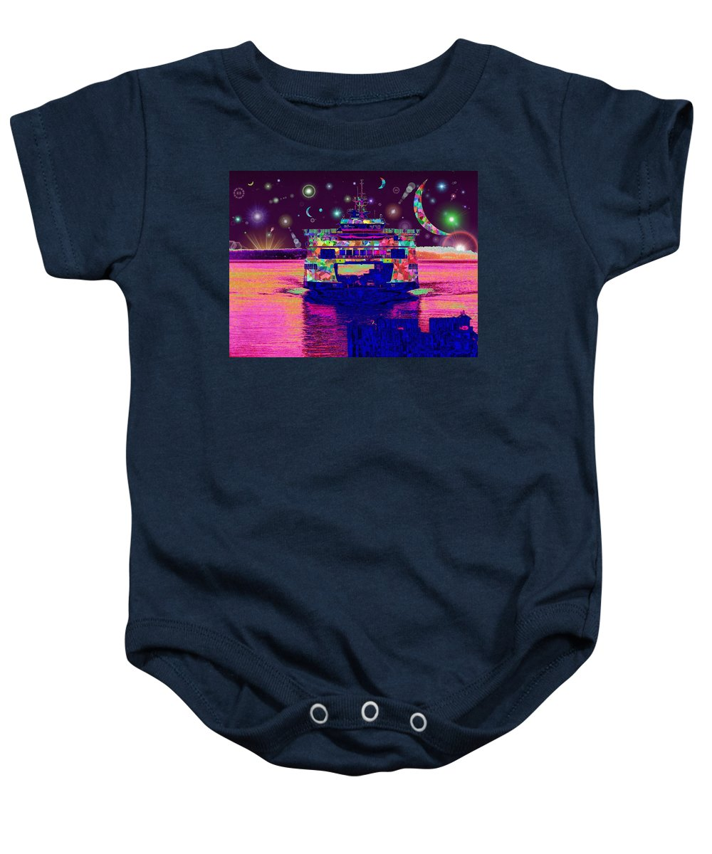 Celestial Baby Onesie featuring the digital art Celestial Sailing by Tim Allen