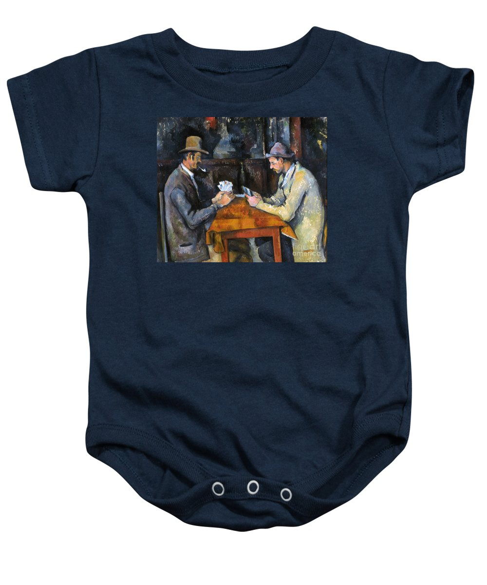 Aod Baby Onesie featuring the photograph Cezanne: Card Player, C1892 by Granger