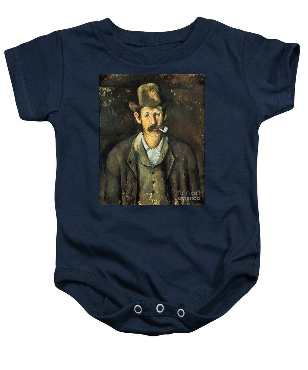 1892 Baby Onesie featuring the photograph Cezanne: Pipe Smoker, C1892 by Granger