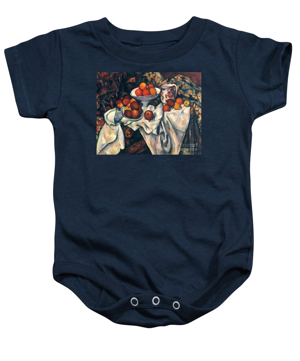 1890s Baby Onesie featuring the photograph Cezanne: Still Life, C1899 by Granger