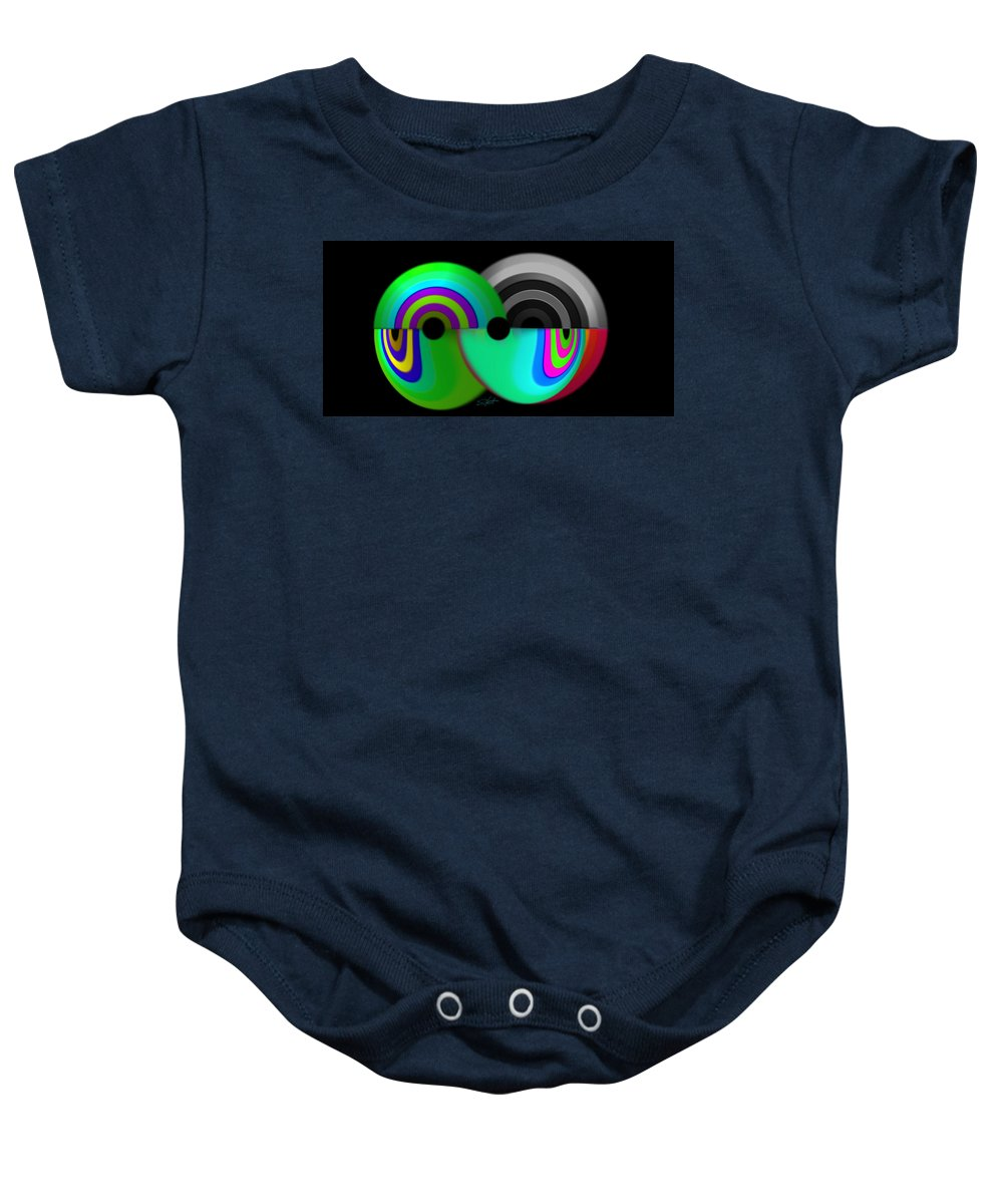 Chaos Art Baby Onesie featuring the painting Chaos Balls by Charles Stuart