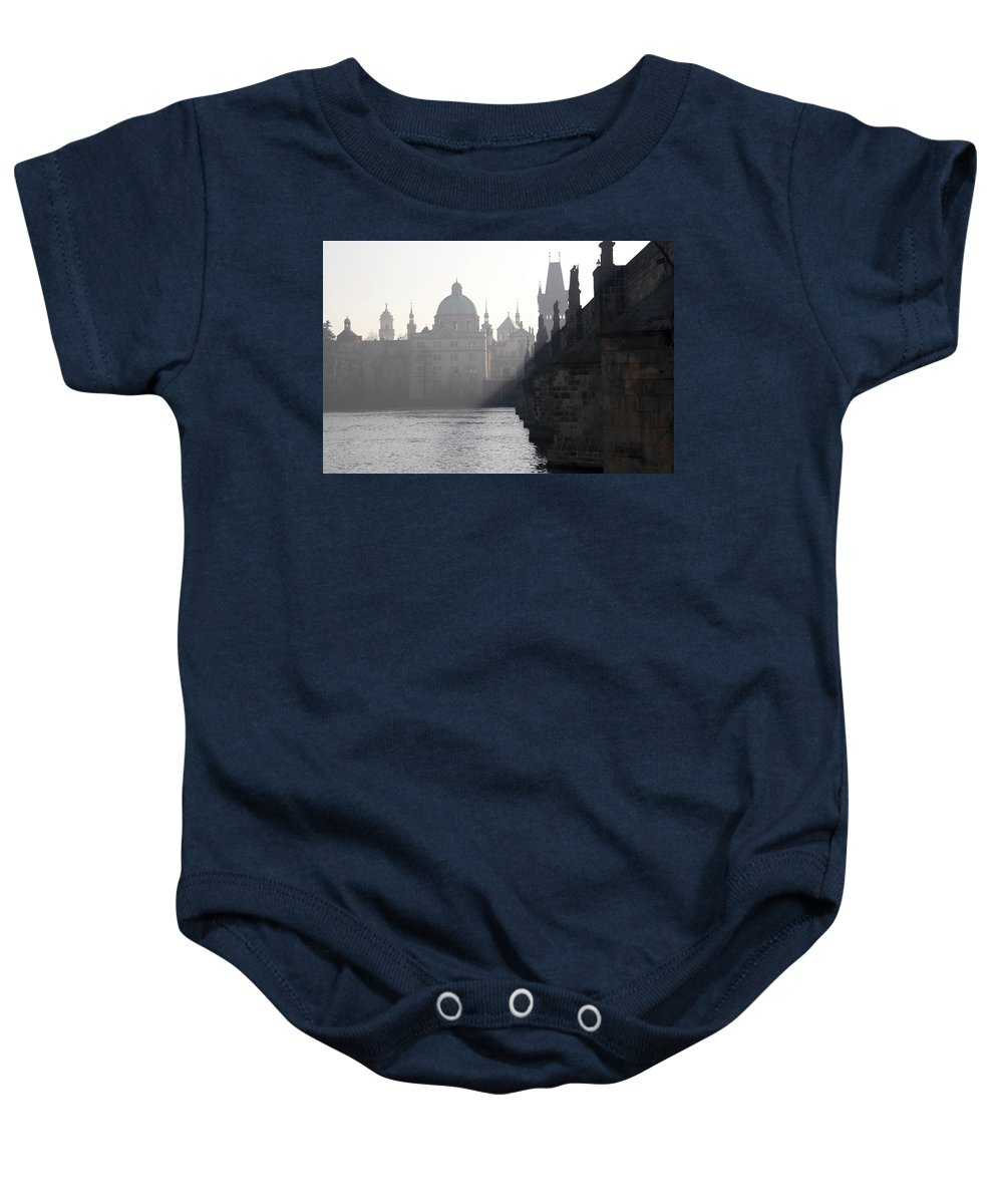 Bridge Baby Onesie featuring the photograph Charles Bridge At Early Morning by Michal Boubin