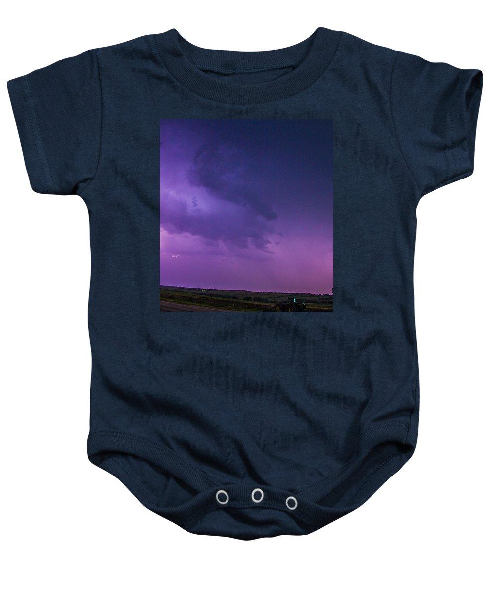 Nebraskasc Baby Onesie featuring the photograph Chasing Nebraska Lightning 020 by NebraskaSC