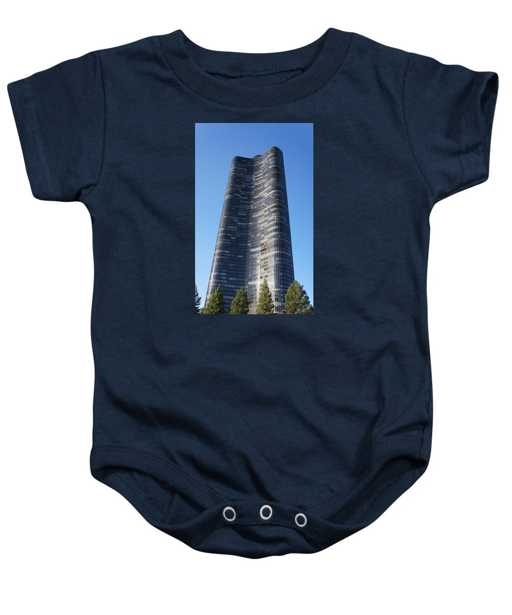 Shore Baby Onesie featuring the photograph Chicago Skyscraper by Art Spectrum