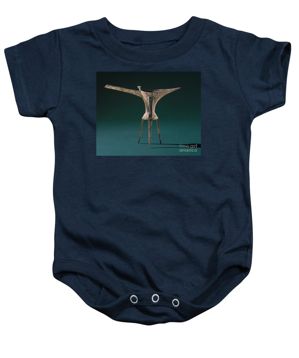 Ancient Baby Onesie featuring the photograph China: Bronze Pitcher by Granger