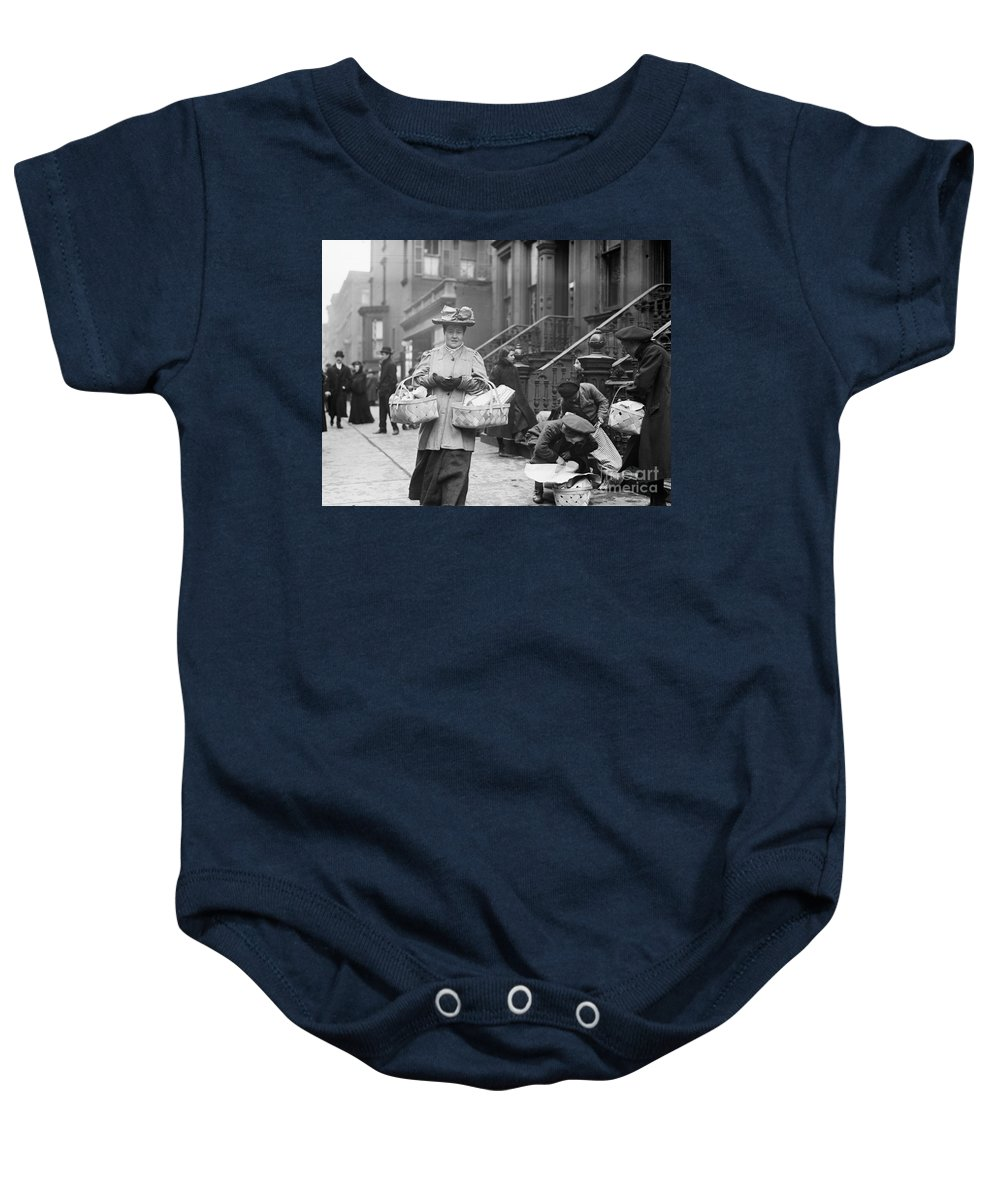 1908 Baby Onesie featuring the photograph Christmas Dinner, 1908 by Granger