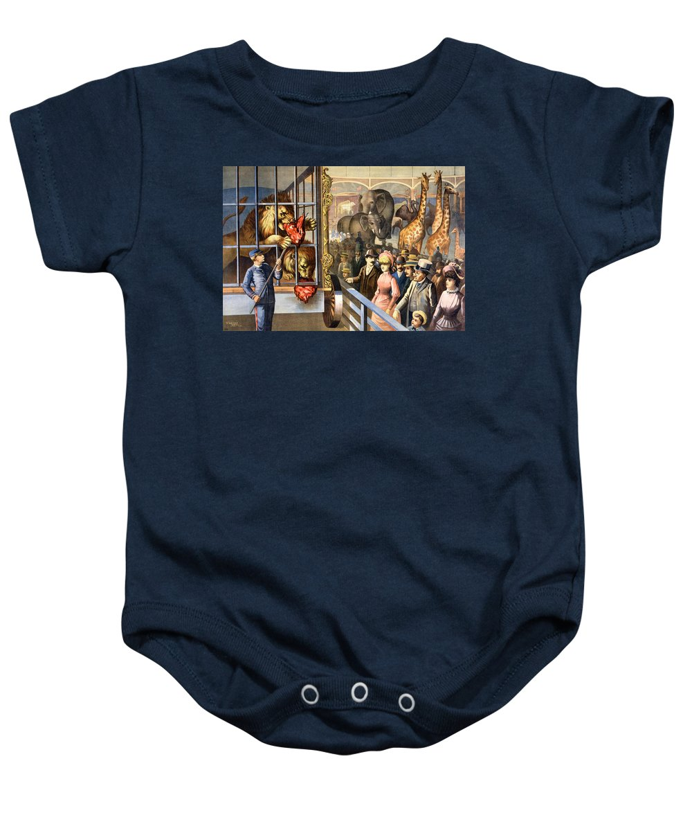 1891 Baby Onesie featuring the photograph Circus Poster, C1891 by Granger