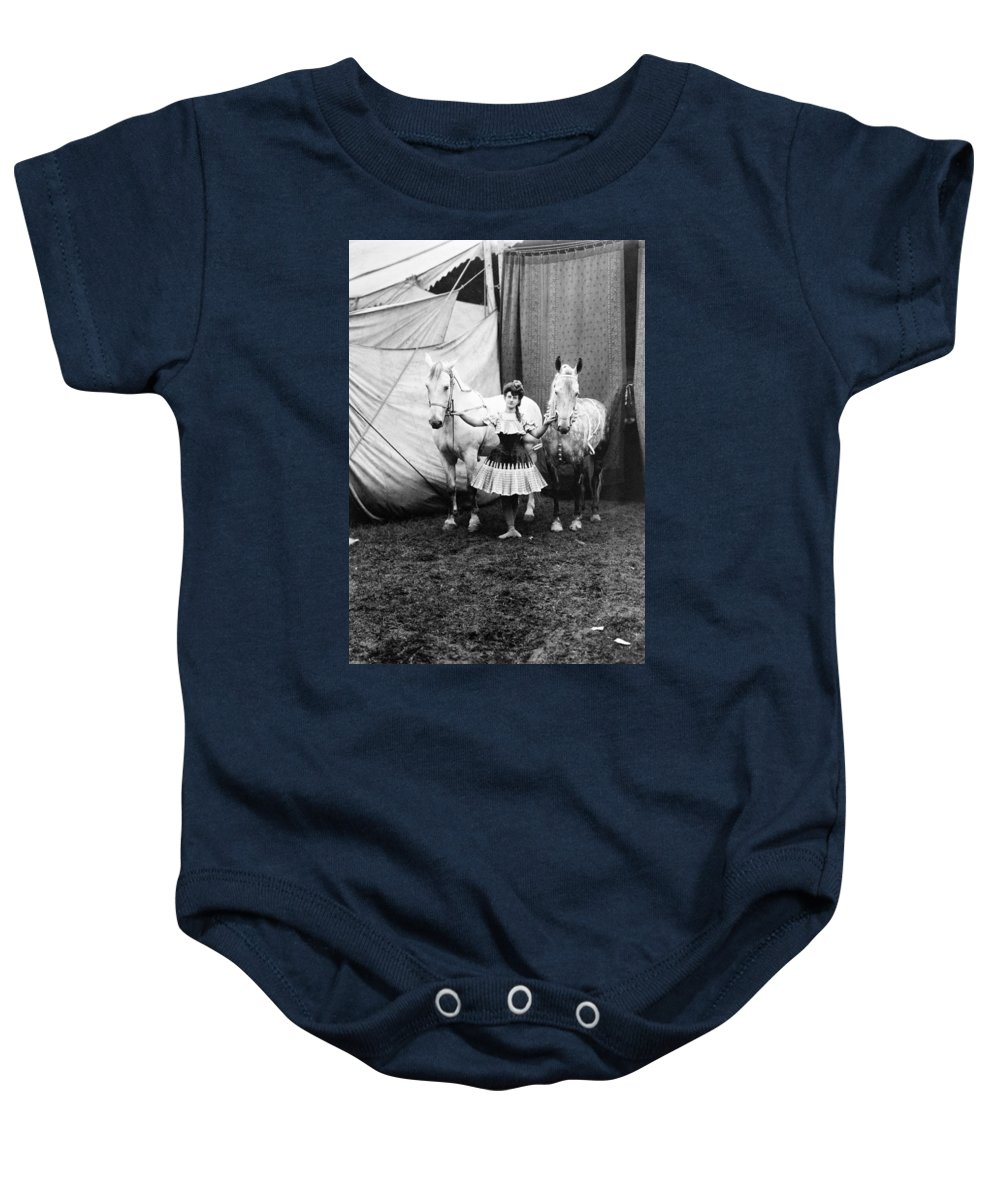 1904 Baby Onesie featuring the photograph Circus: Rider, C1904 by Granger