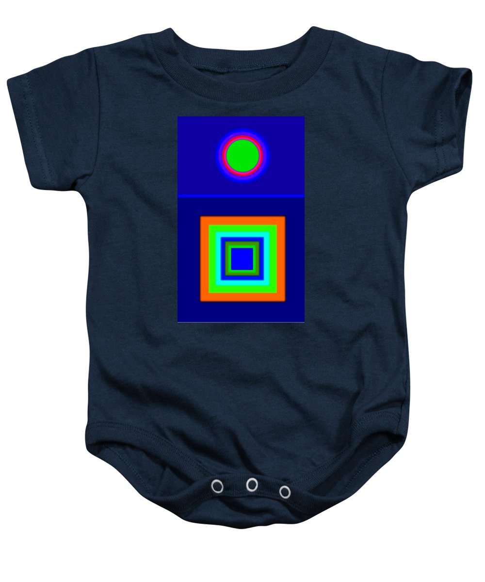 Classical Baby Onesie featuring the painting Classical Blue by Charles Stuart