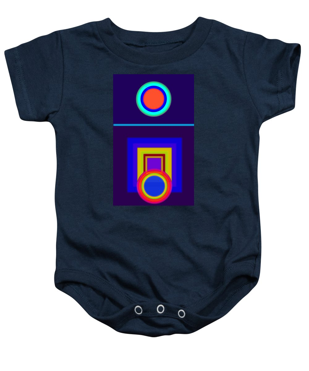 Classical Baby Onesie featuring the painting Classical Night by Charles Stuart