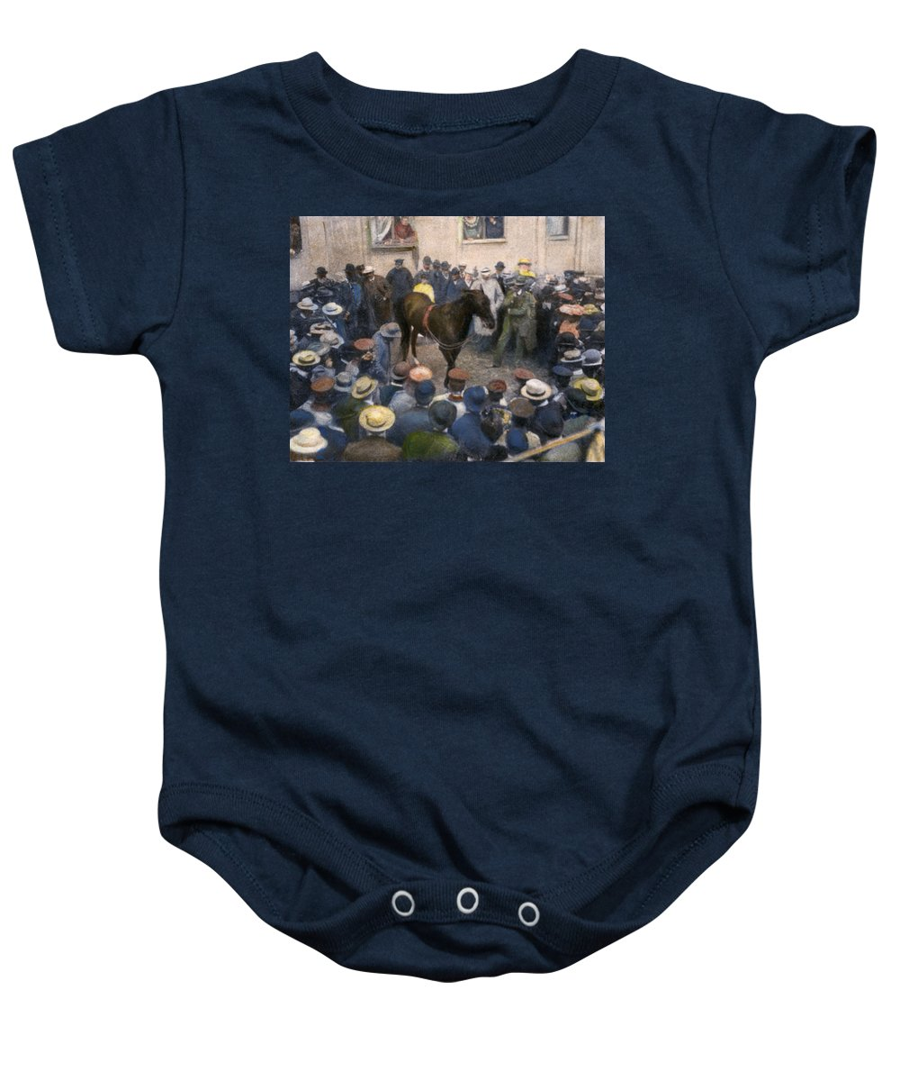 1904 Baby Onesie featuring the photograph Clever Hans, 1904 by Granger