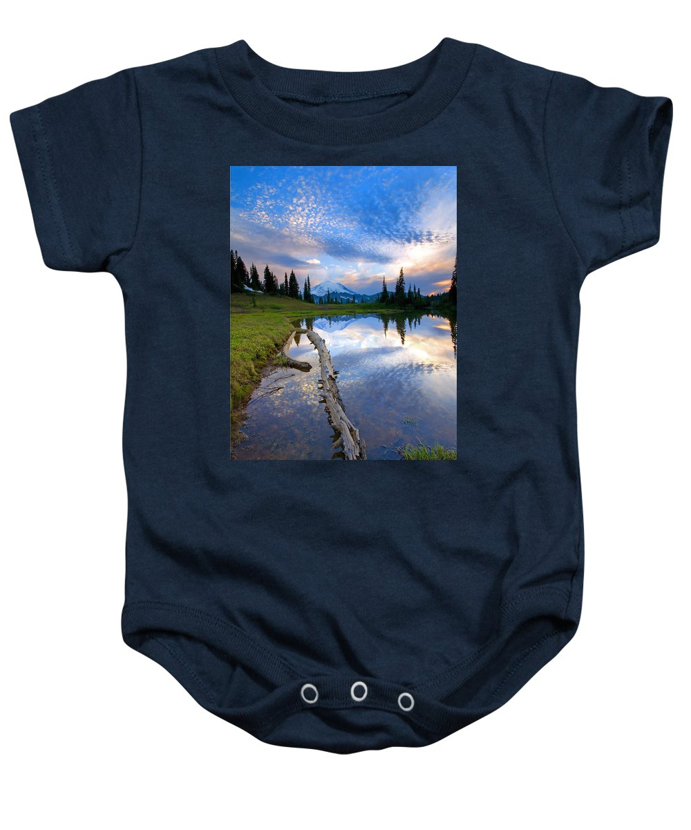 Landscape Baby Onesie featuring the photograph Cloud Explosion by Mike Dawson