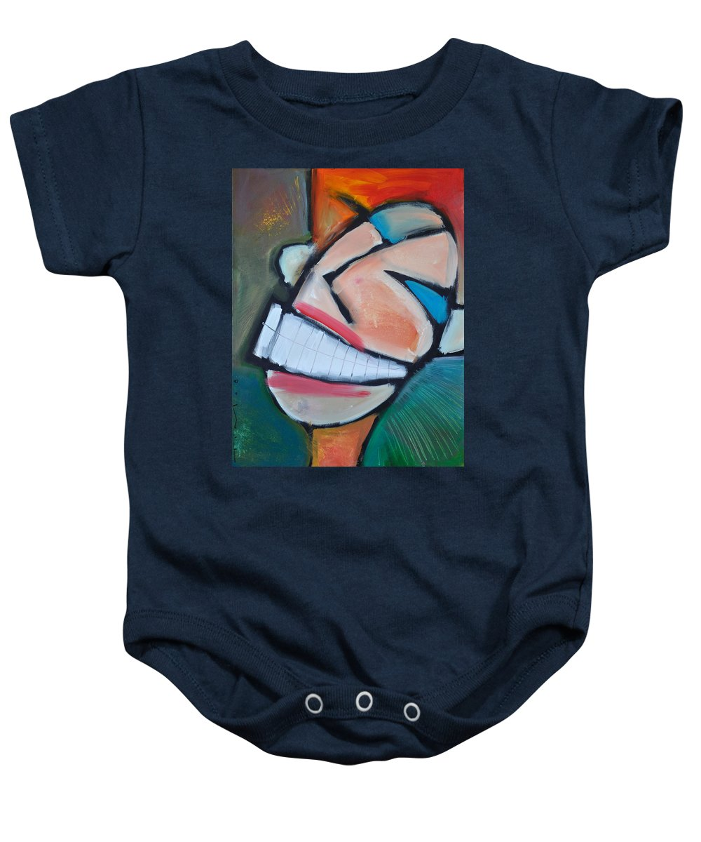 Smile Baby Onesie featuring the painting Coconut Bread by Tim Nyberg