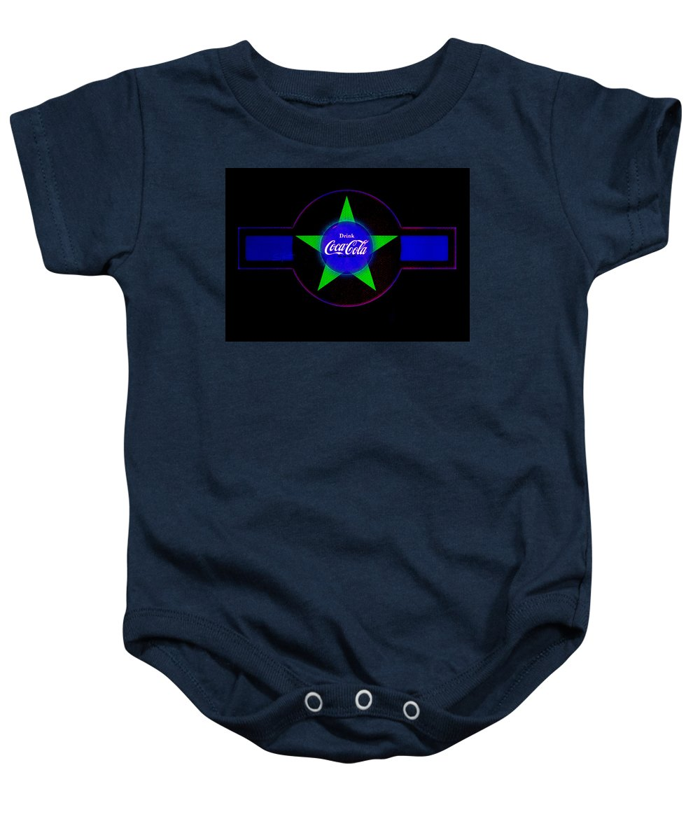 Label Baby Onesie featuring the painting Cola N Lime II by Charles Stuart