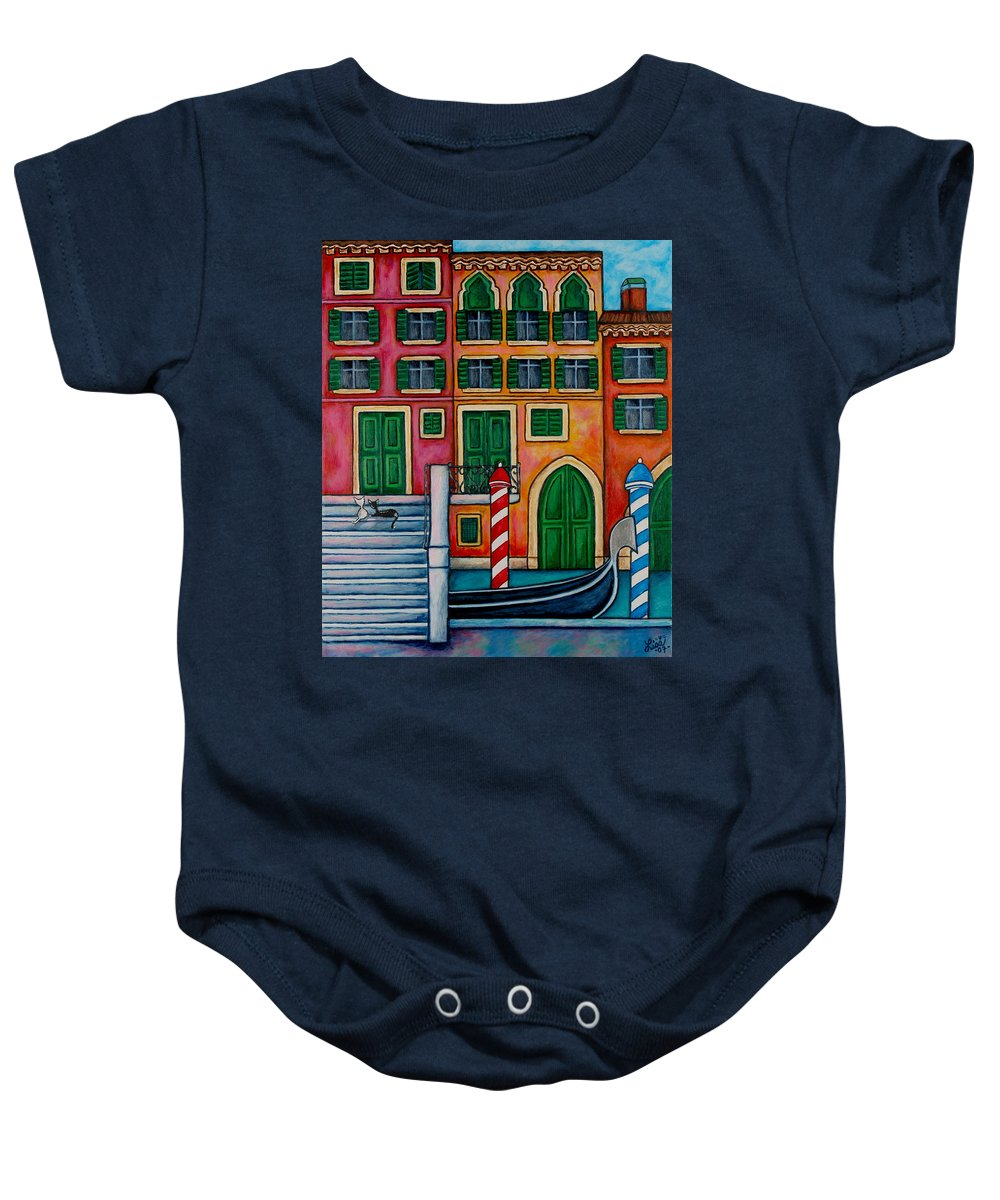 Venice Baby Onesie featuring the painting Colours Of Venice by Lisa Lorenz
