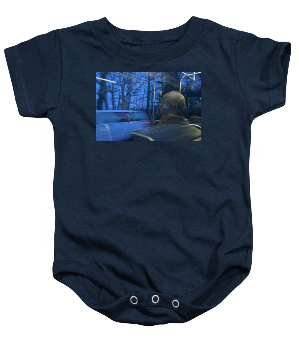 Photography Baby Onesie featuring the photograph Commuting by Steven Natanson