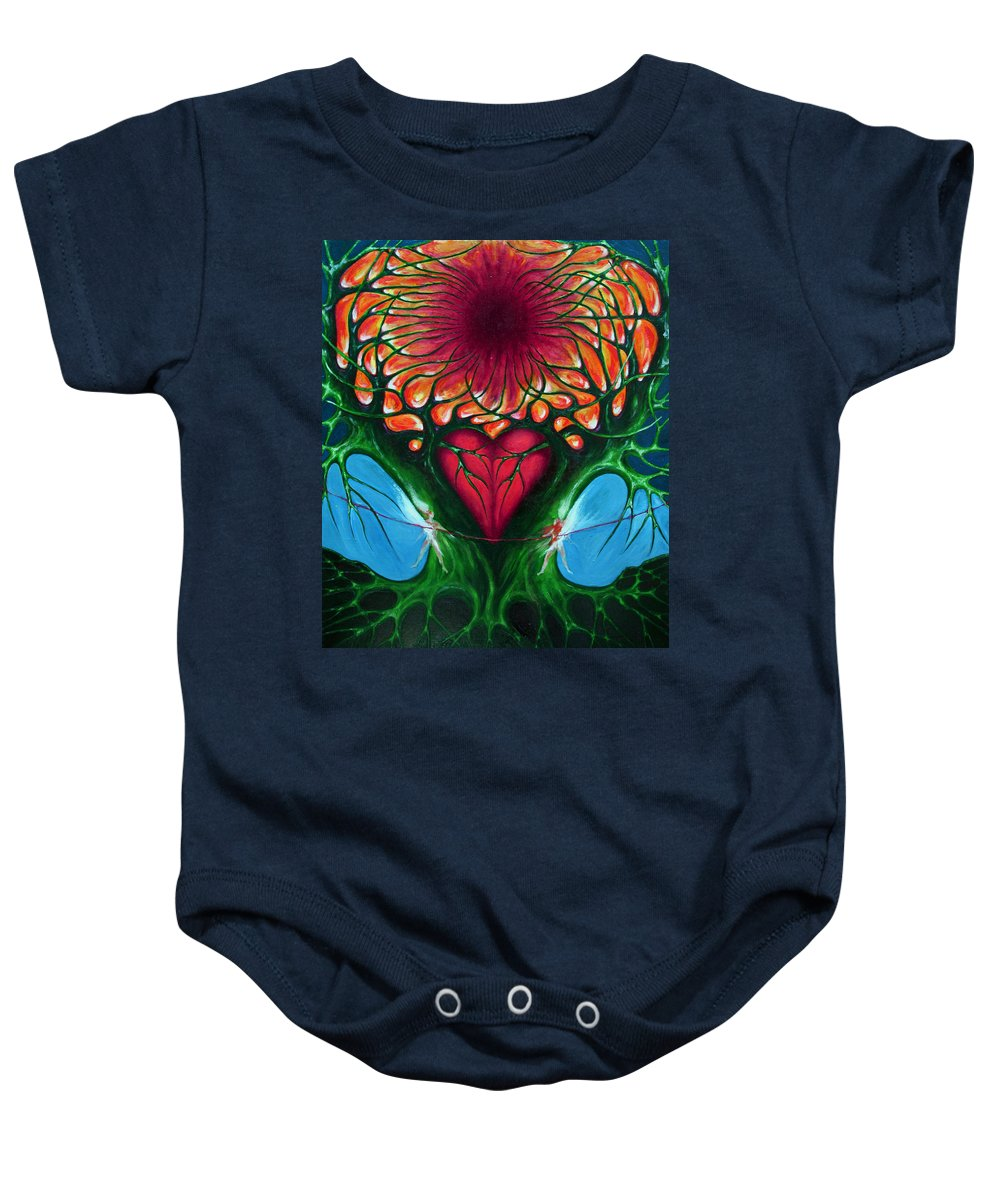 Colour Baby Onesie featuring the painting Connection - Separation by Wojtek Kowalski