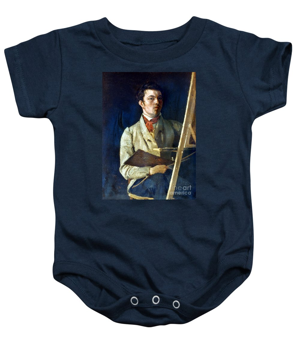 1825 Baby Onesie featuring the photograph Corot With Easel, 1825 by Granger