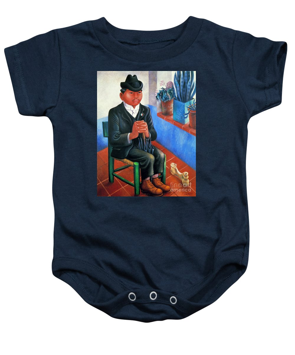 1930s Baby Onesie featuring the photograph Covarrubias: The Bone by Granger