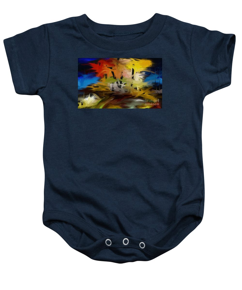 Digital Baby Onesie featuring the painting Crazy Nature by Rushan Ruzaick