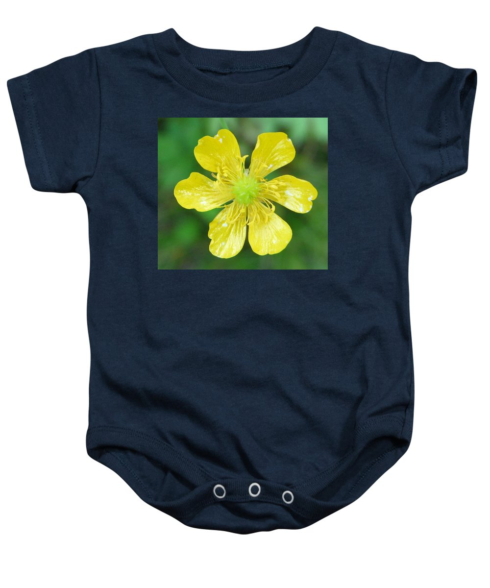 Flower Baby Onesie featuring the photograph Creeping Buttercup by Valerie Ornstein