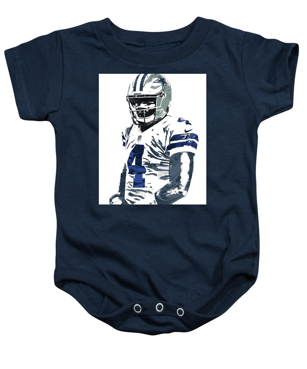 b1594c3eb38 Dak Prescott Dallas Cowboys Pixel Art 4 Onesie for Sale by Joe Hamilton