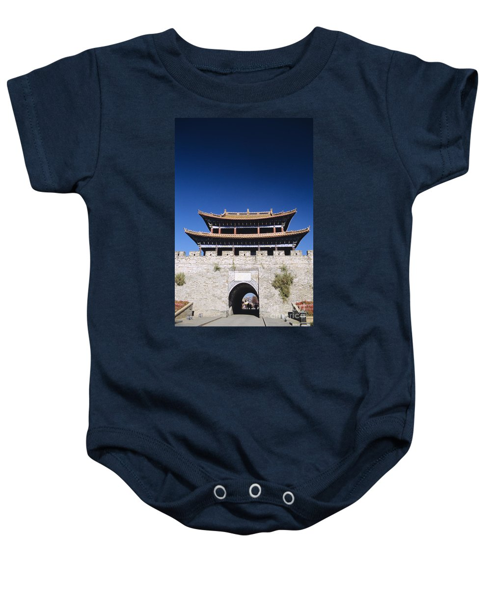 Architectural Art Baby Onesie featuring the photograph Dali South Gate by Gloria and Richard Maschmeyer - Printscapes