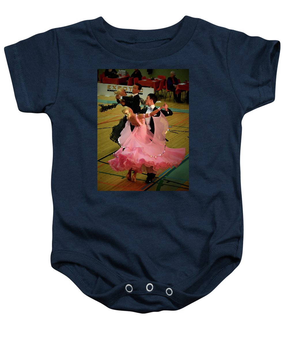 Lehtokukka Baby Onesie featuring the photograph Dance Contest Nr 13 by Jouko Lehto