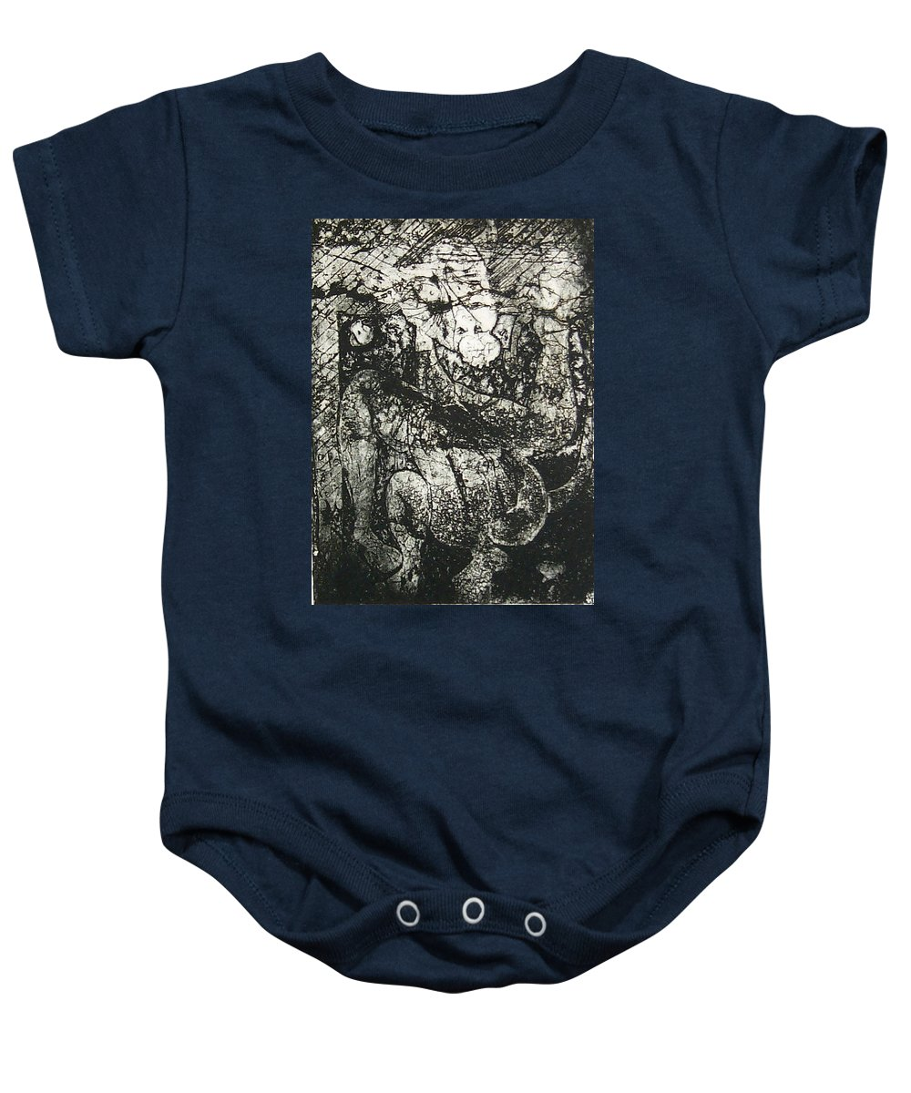 Etching Baby Onesie featuring the print Destroy Plate by Thomas Valentine