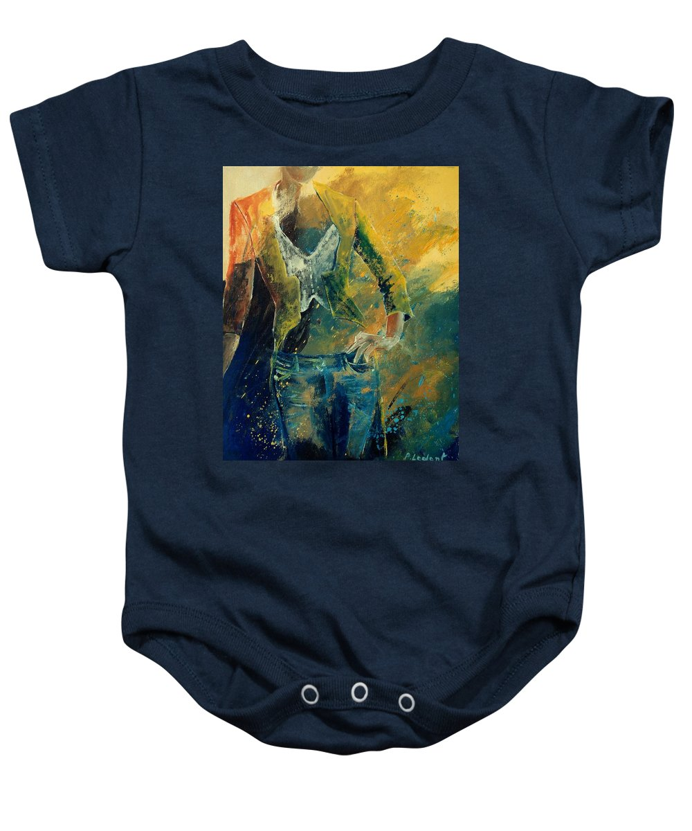 Woman Girl Fashion Baby Onesie featuring the painting Dinner Jacket by Pol Ledent
