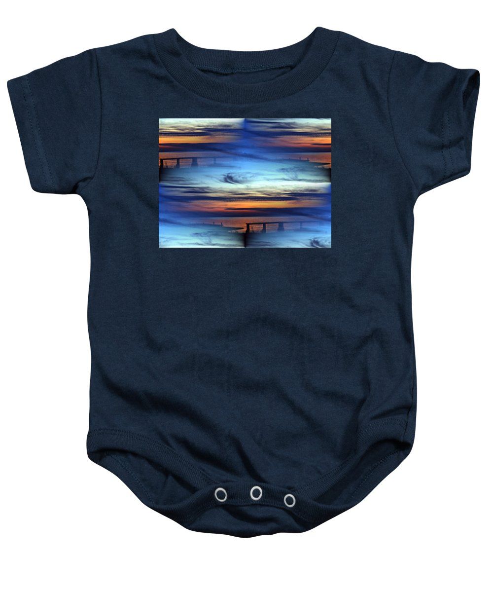 Dock Baby Onesie featuring the photograph Dock Of The Bay by Tim Allen