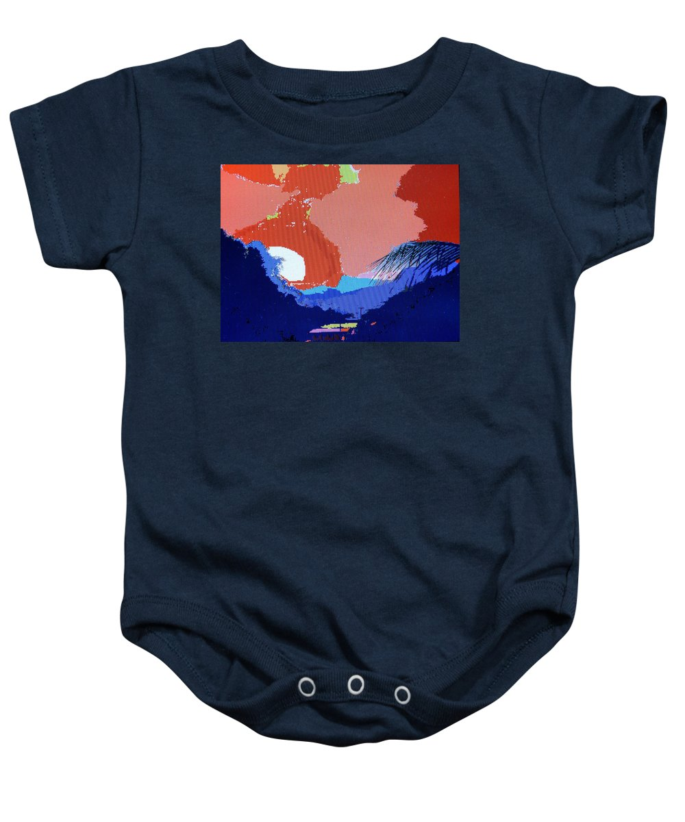 Digital Art Baby Onesie featuring the photograph Dominican Sunset by Ian MacDonald