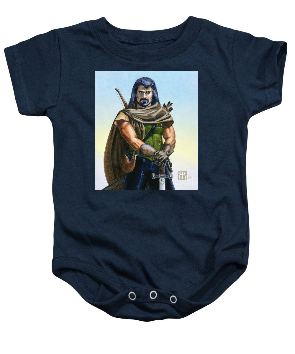 Ranger Baby Onesie featuring the painting Dragon Tracker by Melissa A Benson