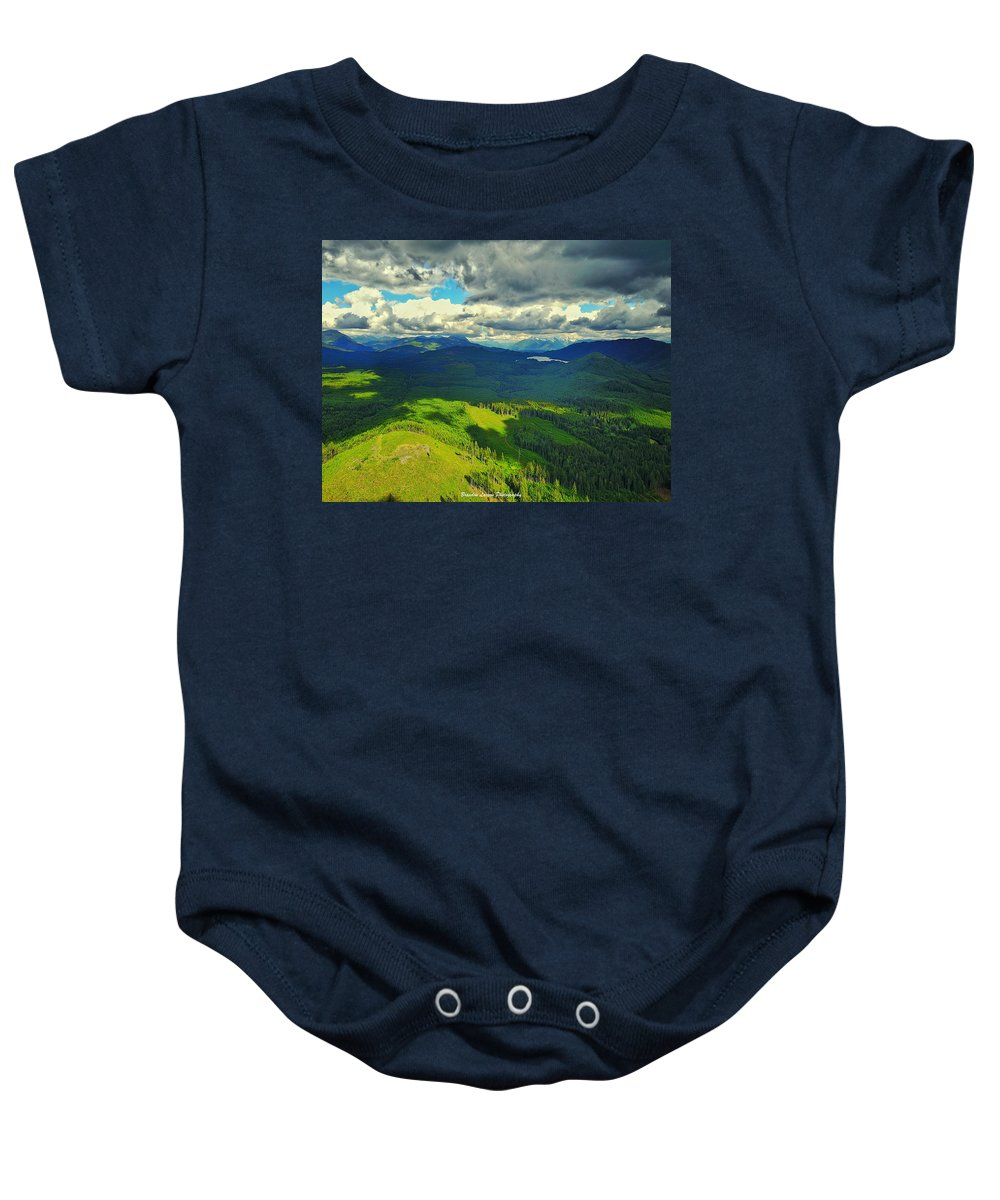 Baby Onesie featuring the photograph Drone Shot At Walker Valley by Brandon Larson