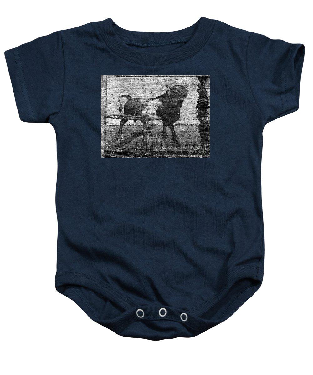 Bull Durham Baby Onesie featuring the photograph Durham's Bull by David Lee Thompson