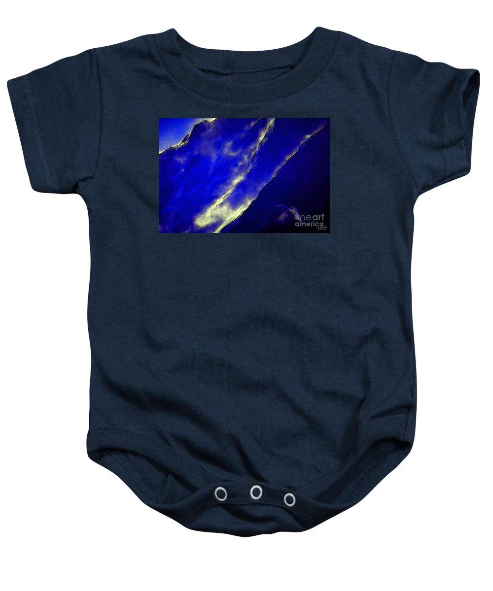 Abstract Baby Onesie featuring the digital art Ein Magischer Moment 17049 by AndReaS KoVaR