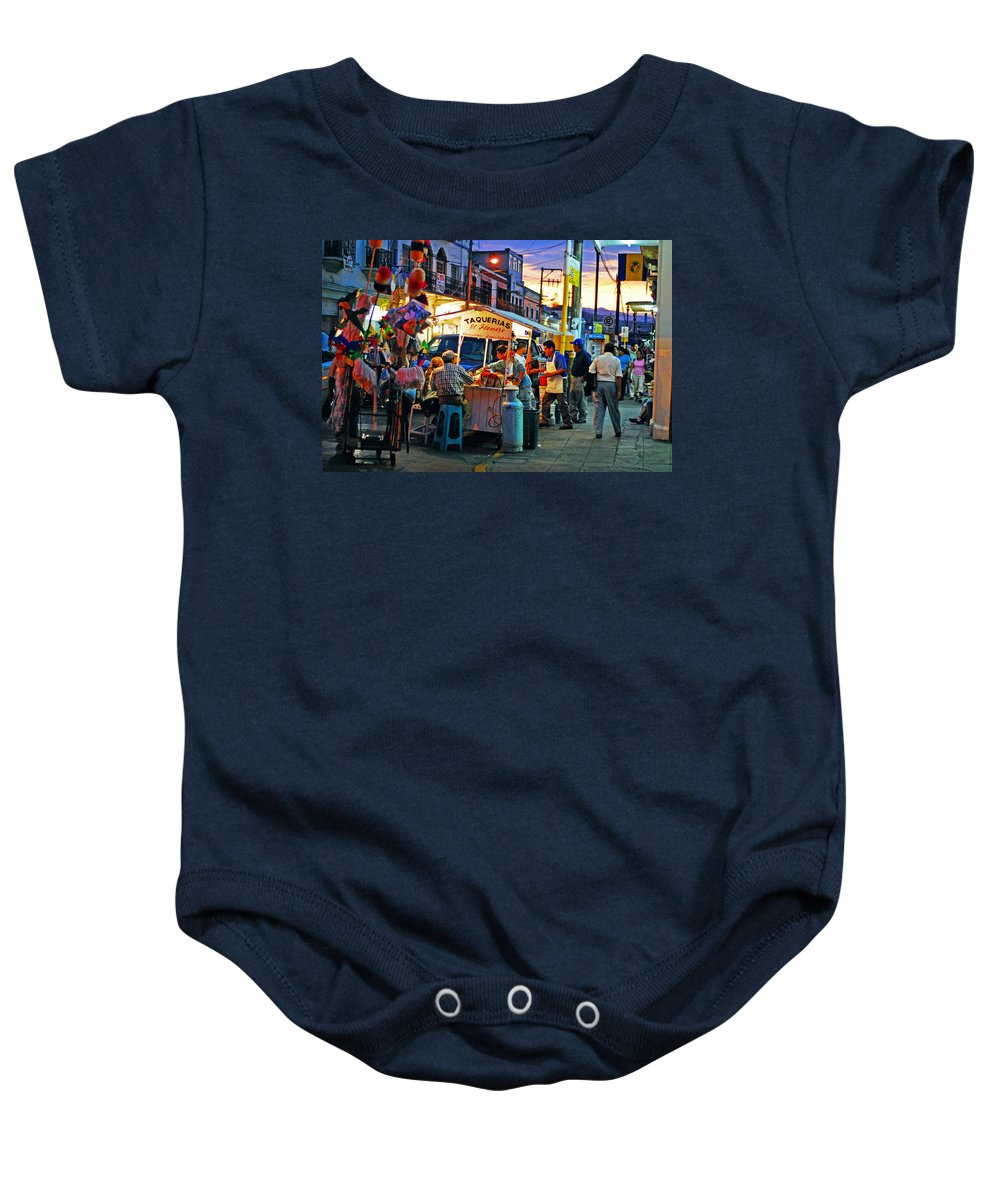 Skip Hunt Baby Onesie featuring the photograph El Flamazo by Skip Hunt