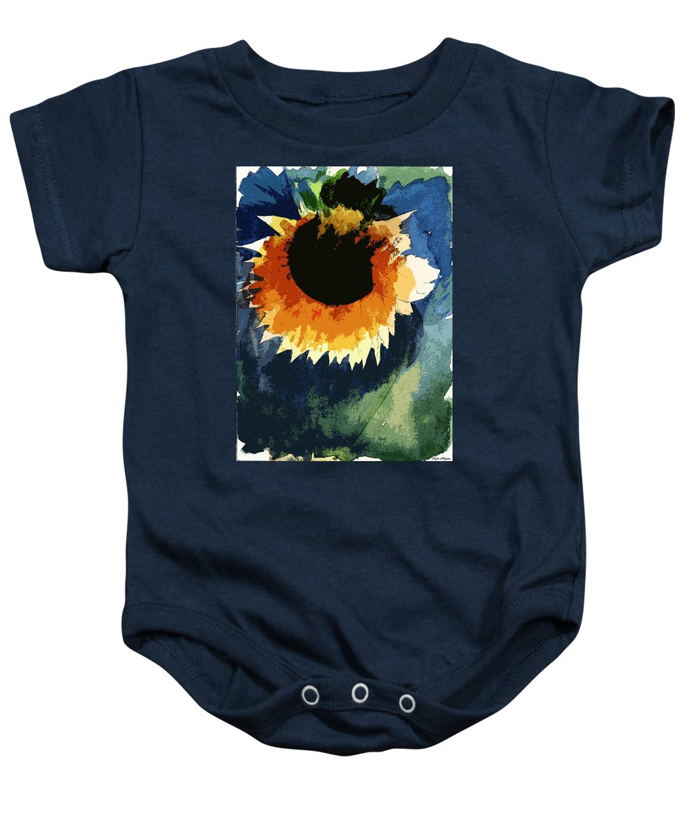 Dying Flower Baby Onesie featuring the painting End Of Life Last Breath by Kate Hopson