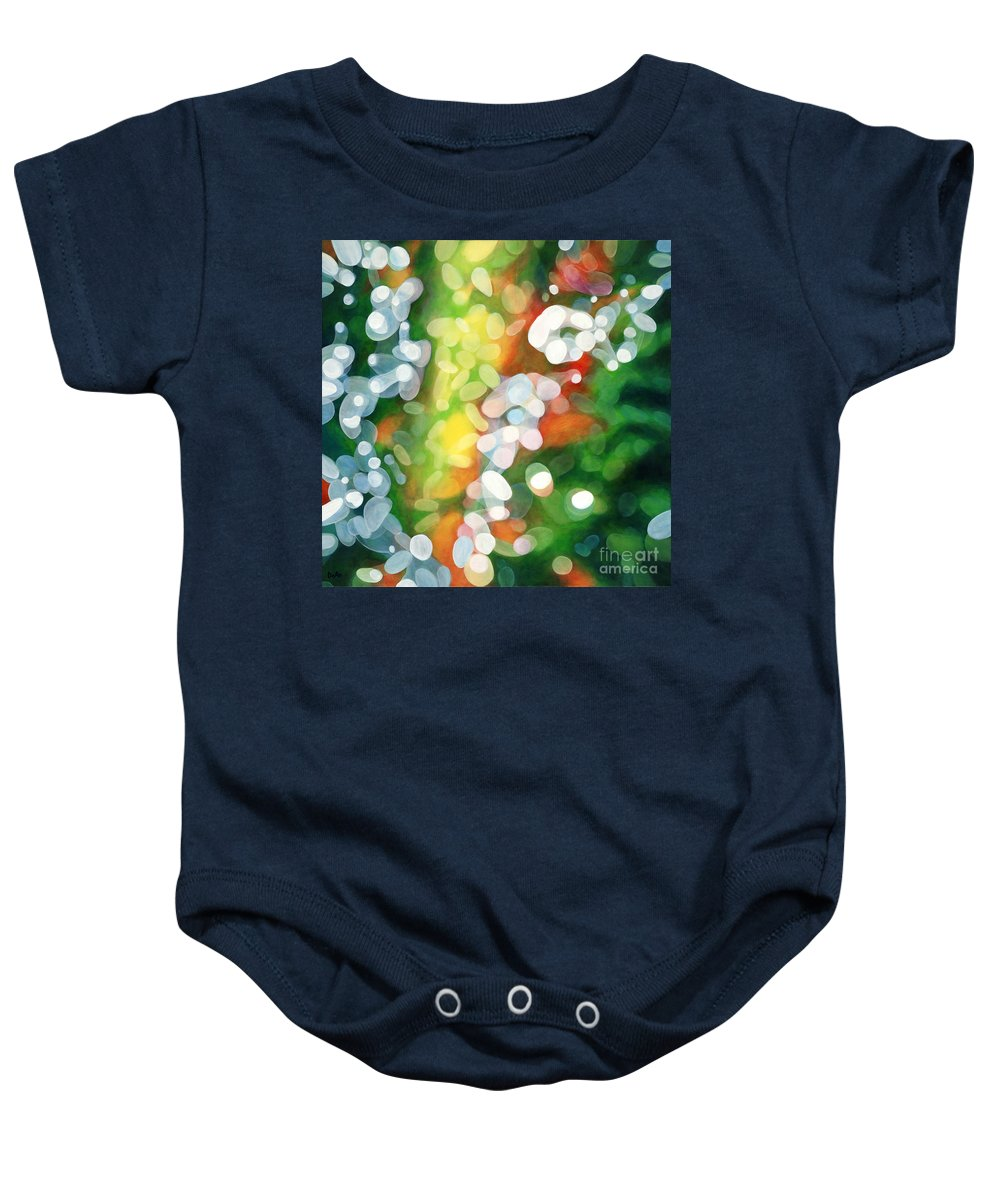 Queen Baby Onesie featuring the painting Eriu Queen Of The Emerald Isle by Do'an Prajna - Antony Galbraith