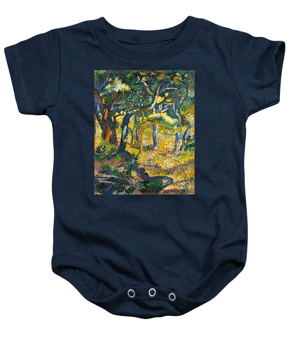 Henri-edmond Cross Baby Onesie featuring the painting Etude by Celestial Images