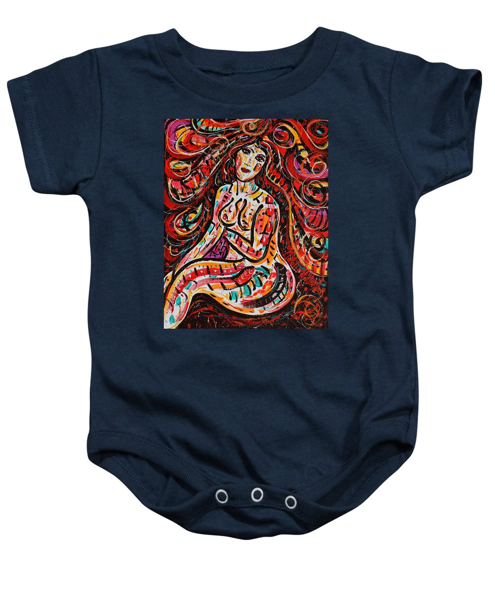 Nude Baby Onesie featuring the painting Eve's Dream by Natalie Holland