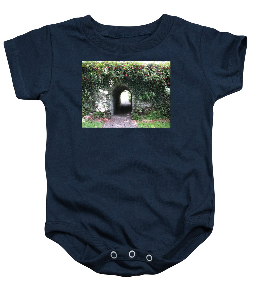 Derrynane Baby Onesie featuring the photograph Fairy Bridge by Kelly Mezzapelle