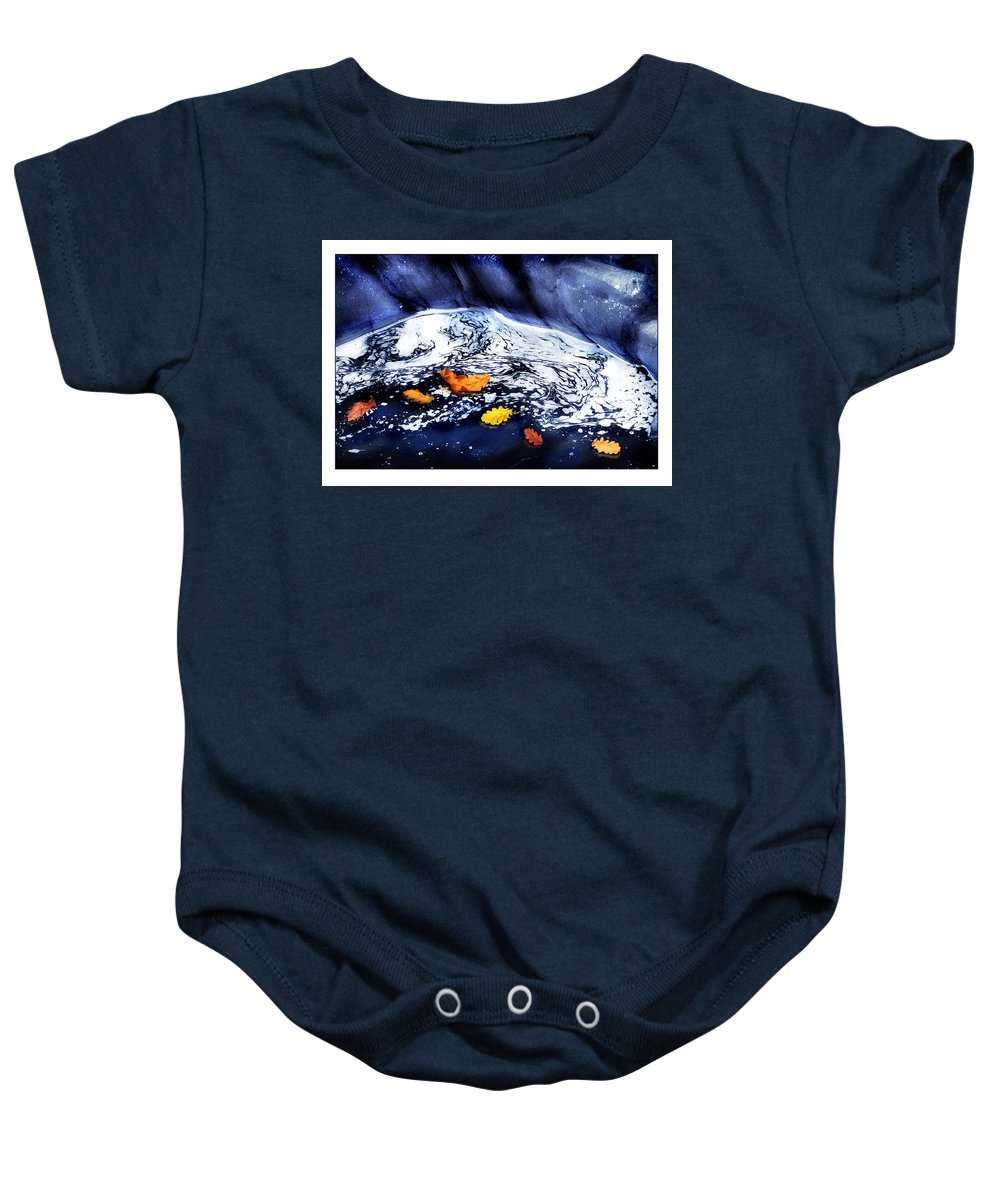 Fall Baby Onesie featuring the photograph Fall Flotilla by Mal Bray